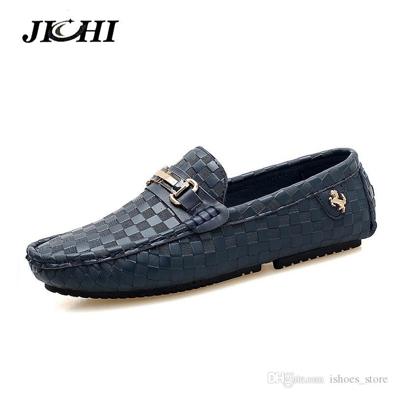 d81ab73e6 Men Casual Shoes Embossed Leather Moccasins for Men High Quality ...