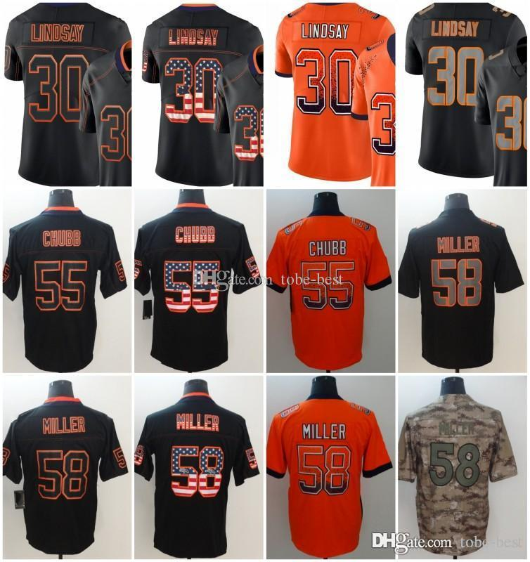 822ba589d 2019 Denver 55 Bradley Chubb Jerseys 58 Von Miller 30 Phillip Lindsay  Broncos 2018 Salute To Service USA Flag Lights Out Black Rush Drift Camo  From Tobe ...
