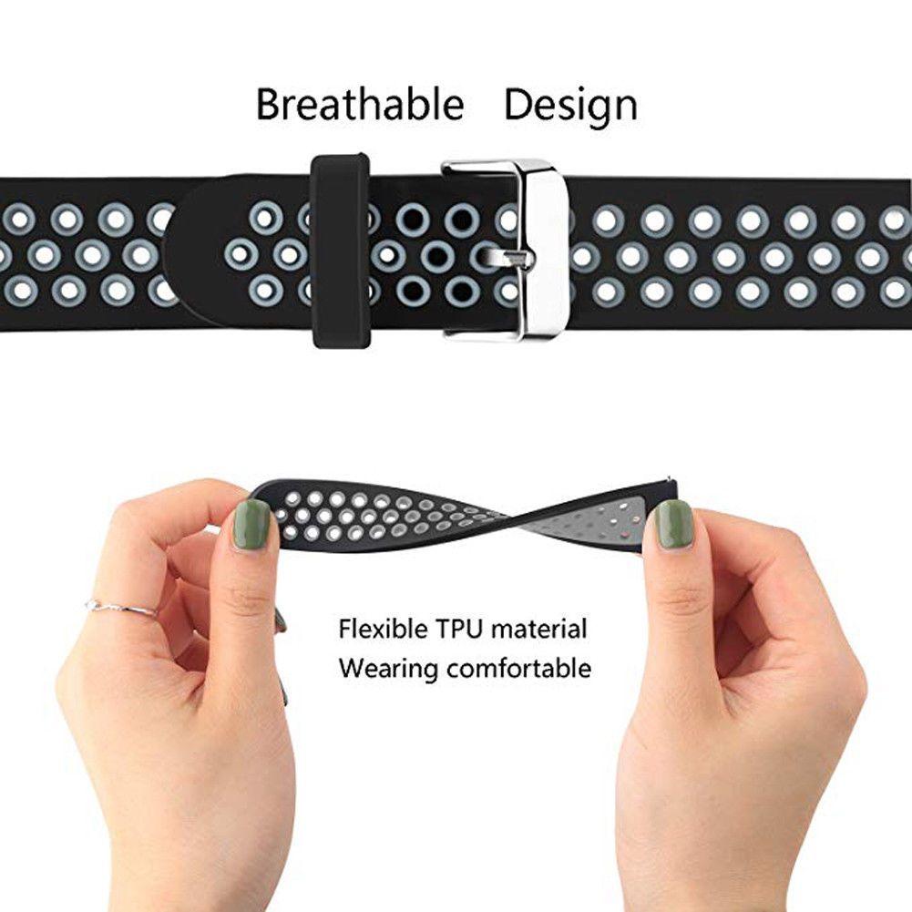 Мягкий Замена силиконовый браслет ремешок Ремешок для Samsung Gear S3 Frontier Watch