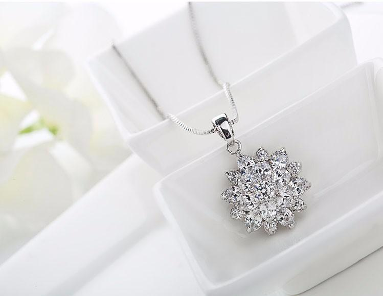LUOTEEMI Wholesale New Arrival 2016 Wedding Jewelry Sets Rose Gold-Color Flower Cut Necklace/Earrings For Sexy Women