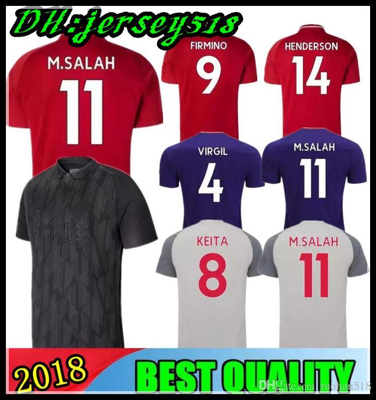 Compre 2018 2019 Blackout Limitada Camisa De Futebol 18 19 FIRMINO  HENDERSON STURRIDGE LALLANA M. SALAH MANE KEITA Camisas De Futebol Adultos  E Crianças De ... e893c90ddd342