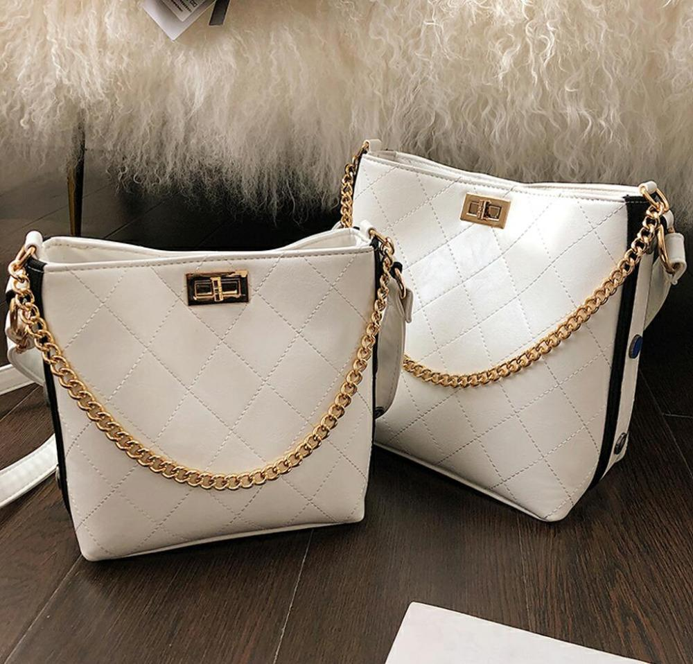 7cdecd305603ed European Retro Fashion Ladies Bucket Bag 2019 New Quality Pu Leather  Women'S Designer Handbag Chain Tote Shoulder Messenger Bags Designer  Handbags School ...