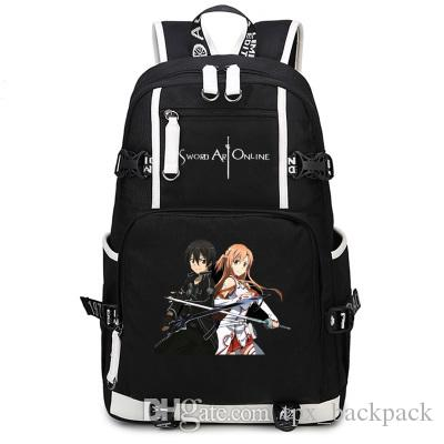 Yuuki Asuna Backpack Sword Art Online Day Pack SAO Yuki School Bag Print  Packsack Computer Rucksack Sport Schoolbag Outdoor Daypack Hydration  Backpack ... a0cf2362d222e