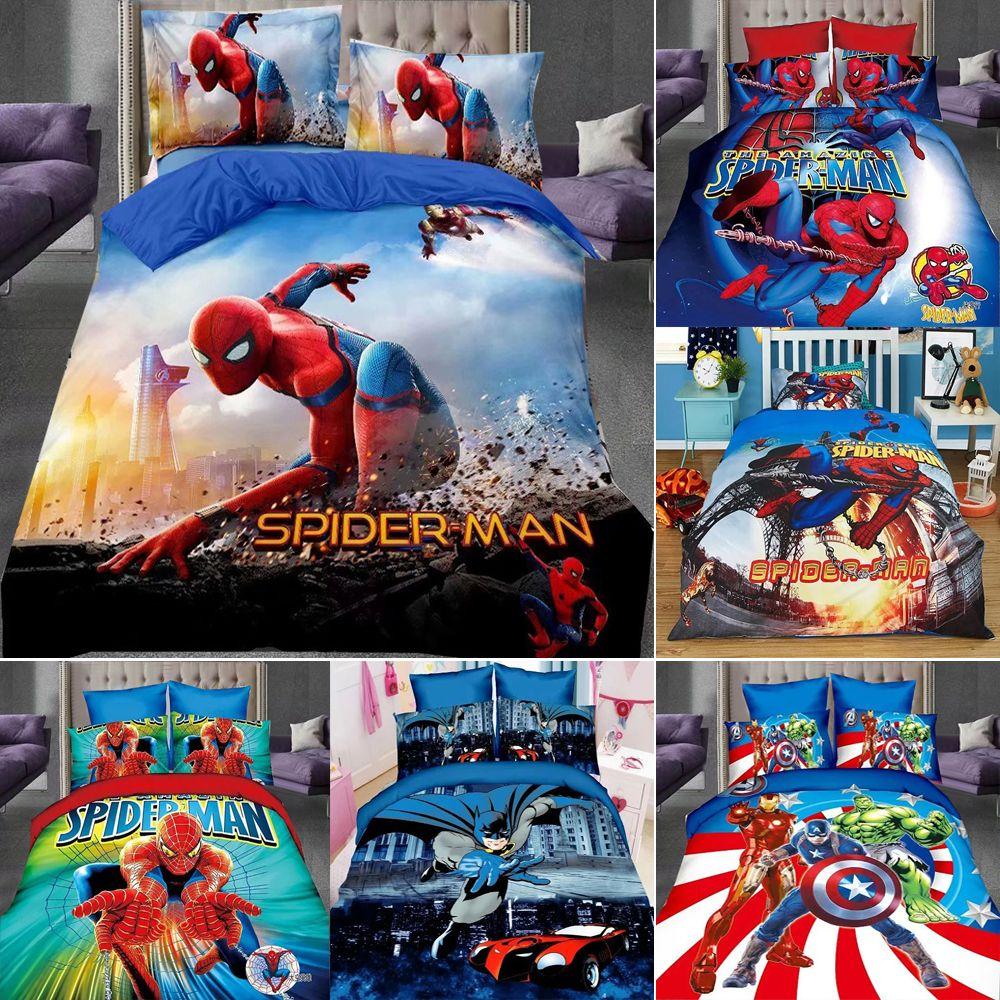 Copripiumino Spiderman.Acquista Nuovo Copripiumino Spiderman Hero Cotone Biancheria Da