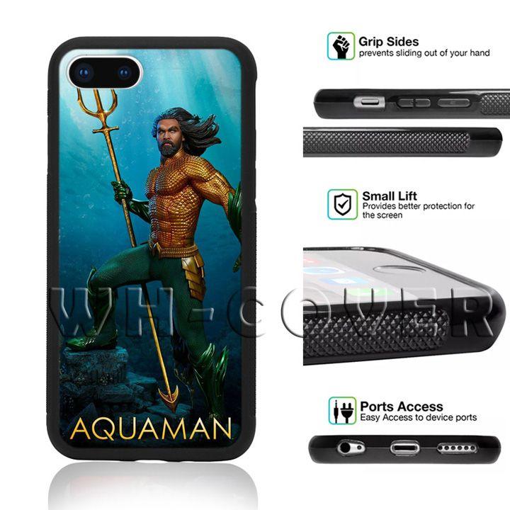 big sale 66097 1107f Aquaman Mera Trident of Neptune Phone Case Jason Momoa Cute Justice League  Movie For iPhone iX i8 i8Plus i7 i7 i6 i6s SE T6 Cover
