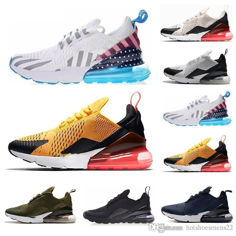nike air max 270 270s 27c airmax 2019 Parra Hot Punch Photo Bleu Hommes Femmes Chaussures De Course Triple Université Blanche Rouge Olive Volt Habanero Flair Sneakers 36-45