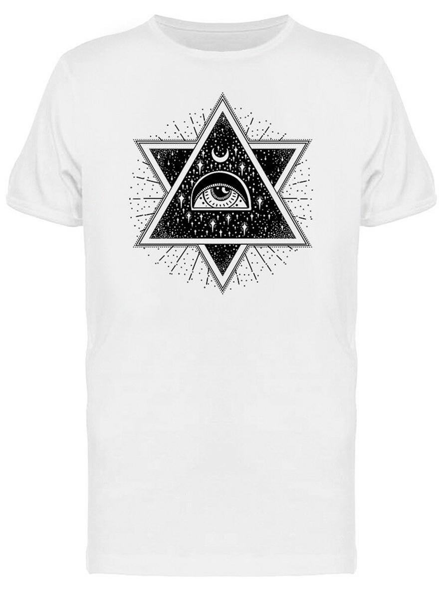 All-Seeing Eye And Moon Men'S Tee -Image By High Quality Tee Shirt