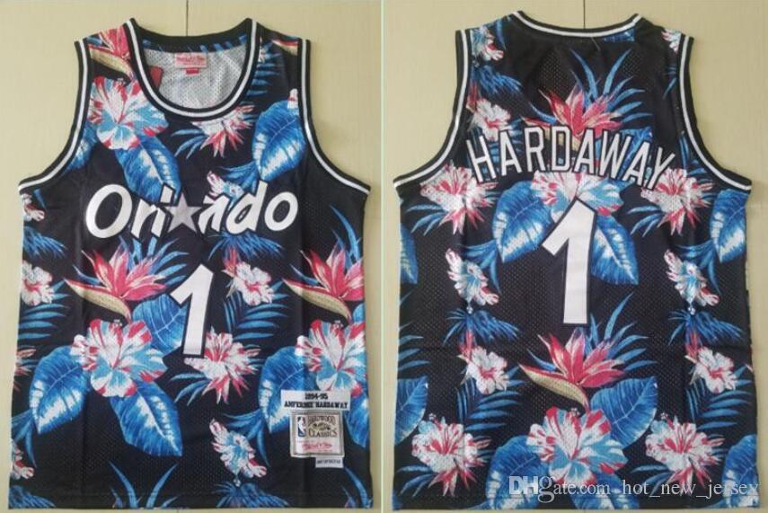 promo code f5b15 3a18d Penny Hardaway Magic Mitchell & Ness Floral Fashion Hardwood 1994-95  Classics Swingman basketball Jersey
