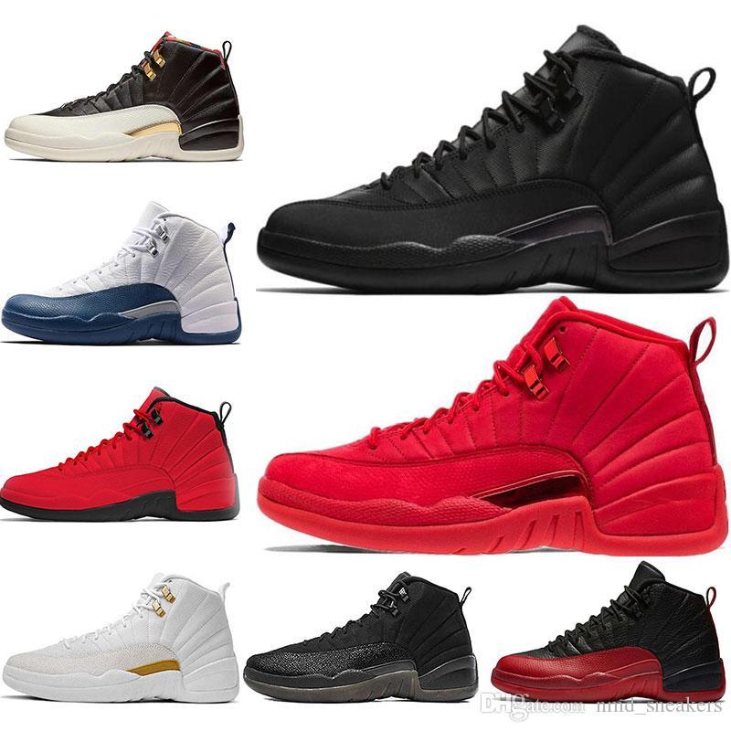 quality design f47d5 bd6d9 Acheter Nike Jordan 12 12s Chaussures De Basketball Pour Hommes De 12 Ans.  CLASSE MICHIGAN DE 2003 FLU GAME THE MASTER BORDEAUX Loup Gris PLAYOFF  GAMMA BLUE ...