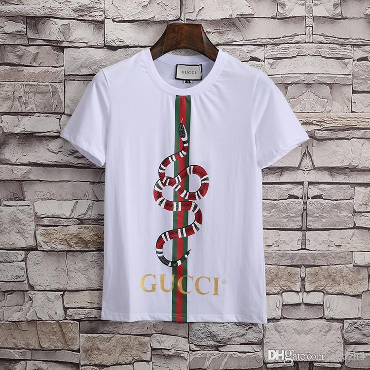 d79554197d 19ss Mens Designer t-Shirts multicolor letter embroidery Casual cotton t  Shirts Medusa t Shirts round neck Short Sleeve white Classic style