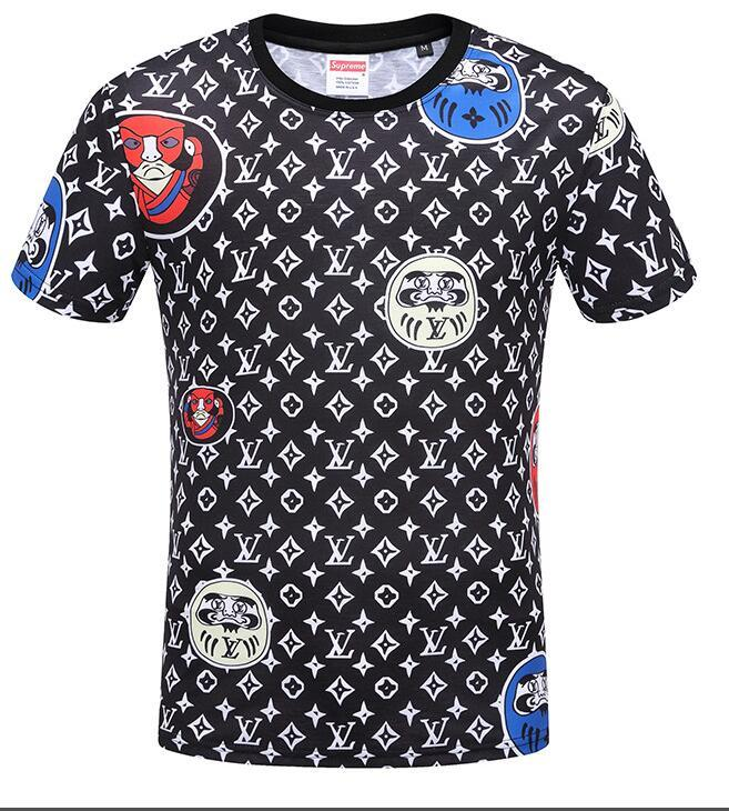 Acquista LOUIS VUITTON 2019 Marchio Uomo Donna T Shirt A Nastro Lettera  Allentata Mezza Manica Moda Casual Manica Corta Coppia Wear Nuovi Prodotti    203 A ... 6057ad192e38