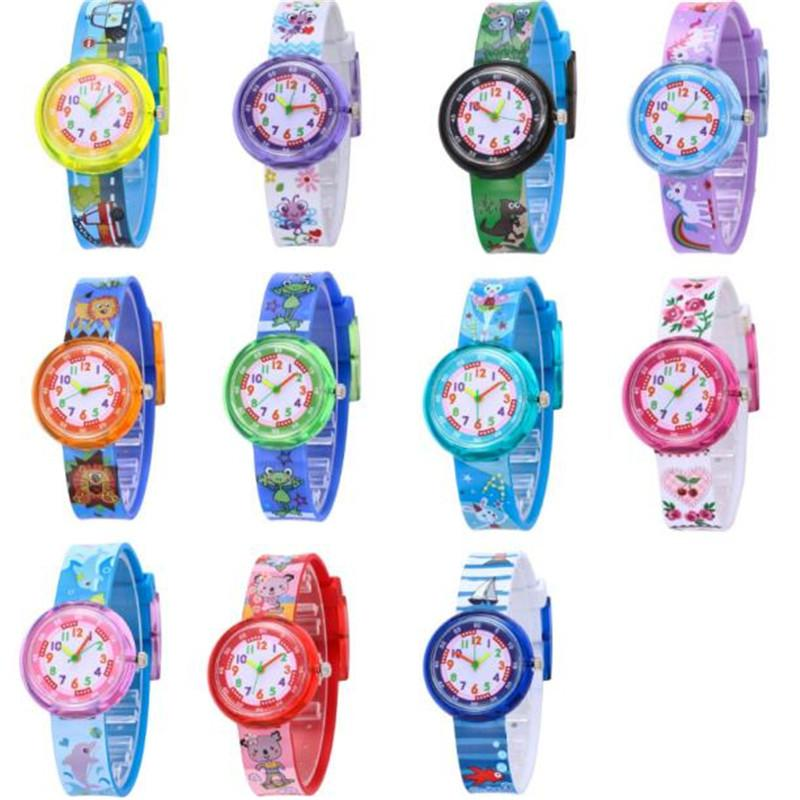 Cartoon Football Style Children Students Girls Boys Nylon Strap Waterproof Quartz Wrist Watch 06 To Have A Unique National Style Watches