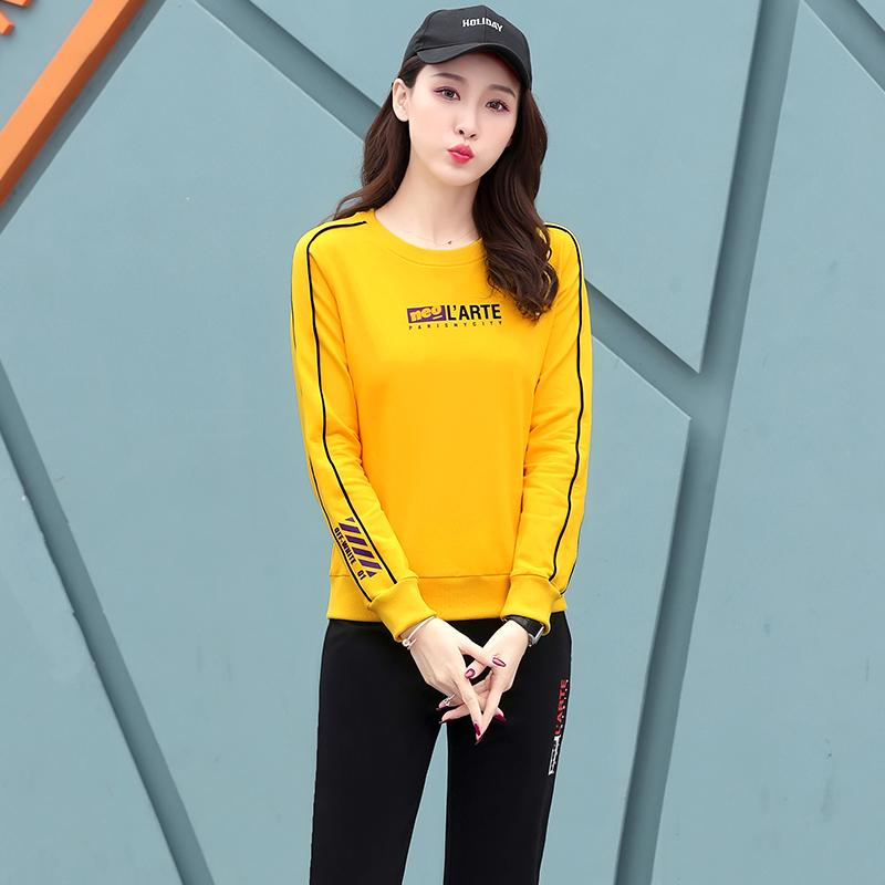 2019 Running Clothing Women Sweatsuits 99216 Long Sleeve Crew Neck Pullover  Joggers Pants Spring Fall Women Gym Exercise Clothes From Silverdog da866cdadb7e8