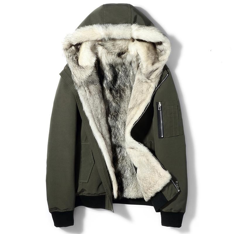 84374dea0060 2019 Real Fur Coat Men S Winter Jacket Real Wolf Fur Parka Men Short Jackets  Streetwear Warm Parkas Plus Size Veste Homme Hiver Y1892 From Dufflecoat