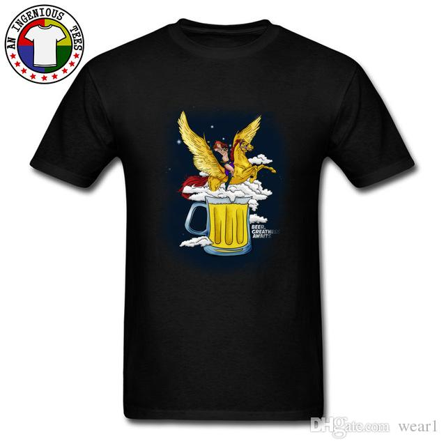 f560a058e 2019 mens designer t shirts Amazing T Shirts Fashion Tshirts Pure Cotton  O-Neck Funny T-Shirts Beer Greatness Awaits Horse Pin Up Tshirts