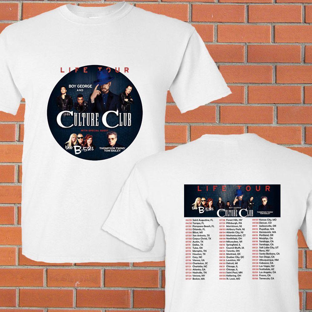 Boy George Culture Club Life Tour Concert 2018 White Tee Shirt S