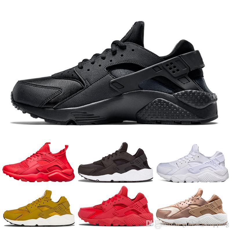 2019 nike Huarache 4.0 1.0 zapatillas de deporte para hombre para mujer zapatos para correr Triple negro Huaraches transpirable zapatos entrenadores