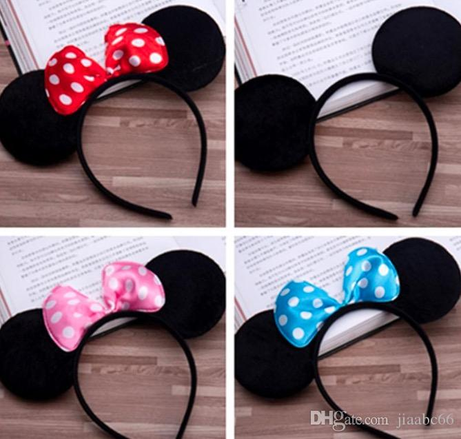 5 Color Girls hair accessories Mouse ears headband Children hair band Baby kids cute Halloween Christmas cosplay headdress hoop Hair Accesso