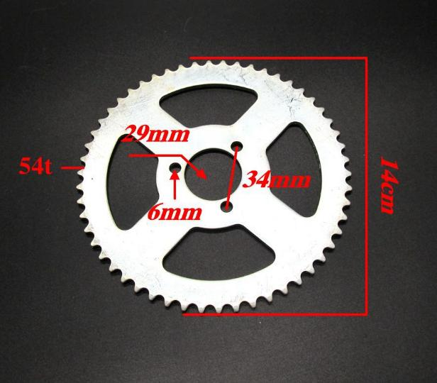 74T 54T 41T 55T 39T 68T 35T 37T 29T Tooth Chain Sprocket Drive & Gears ATV Motorcycle Modification Parts Universal Accessories