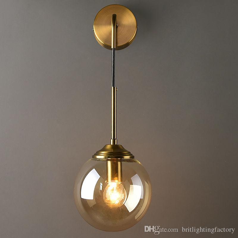 Nordic Light De Luxe En Verre Appliques Murales Poste Moderne Salon Décoration Murale Applique Minimaliste Chambre Lampe De Chevet Escalier Allée