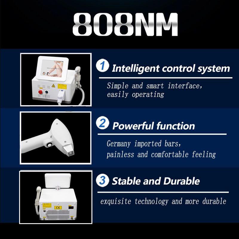 Traitement laser nouvelle technologie 808 et épilation définitive système laser diode 808nm épiler machine de traitement