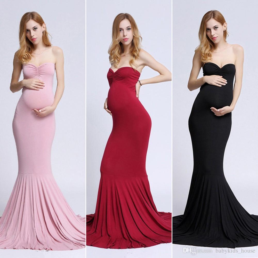 91ecbff45be30 Long Elegant Maternity Dresses