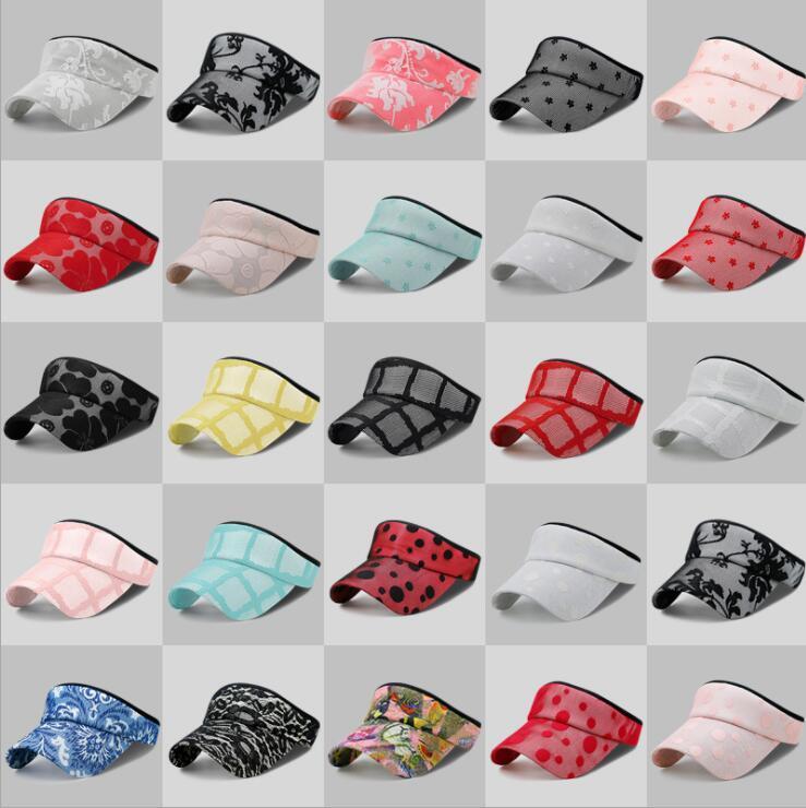 3525e6de68689 Sun Visor Running Cap Summer Outdoor Lace Sun Beach Ladies Hat Beach Empty  Top Hat LJJK1342 Richardson Hats Headwear From Ljj sunglasses