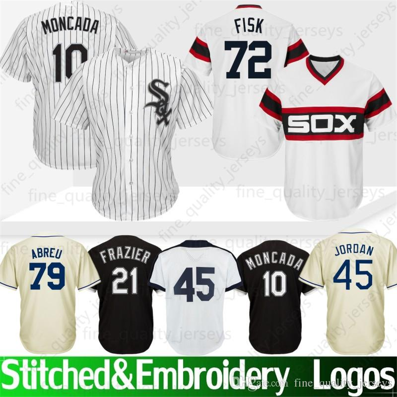 3fcc67852 2019 45 Michael Jersey Chicago White   Sox 8 Bo Jackson 72 Fisk 21 Todd  Frazier 35 Frank Thomas 79 Jose Abreu 10 Yoan Moncada Baseball Jerseys From  ...