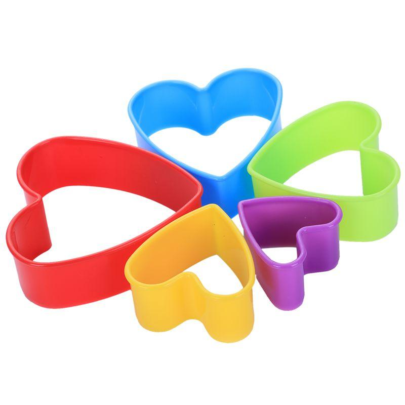 5pcs Random Color Fondant Cake Cookie Sugar craft Cutters Shapes Decorating Molds Moulds Tool Set Kitchen Supplies in Differen
