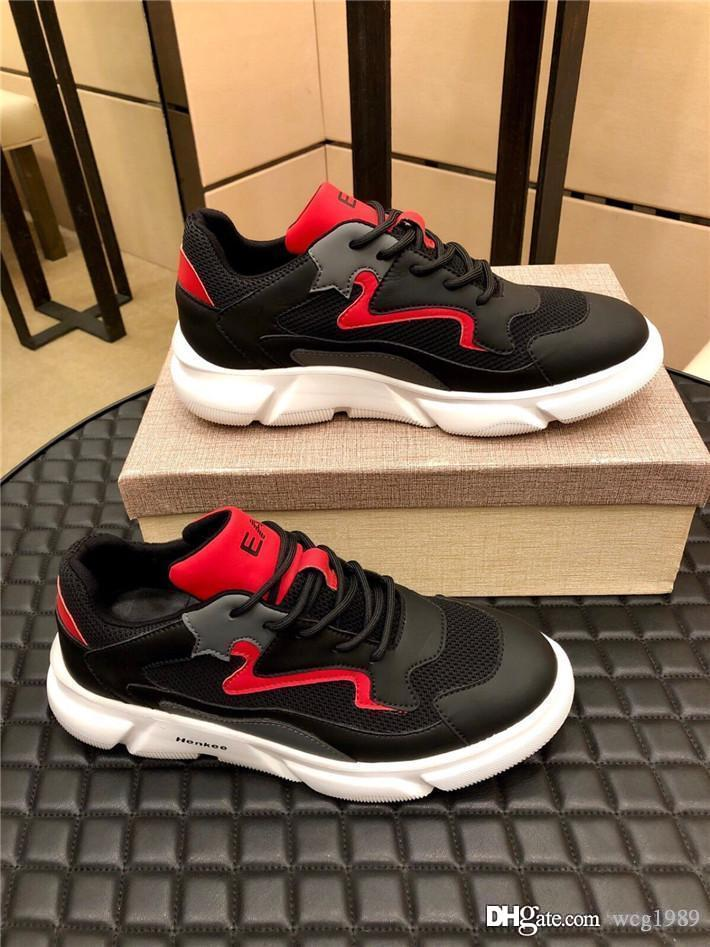 Top version new listing men's sports shoes leather uppers sheepskin lining casual running shoes Size: 38-44