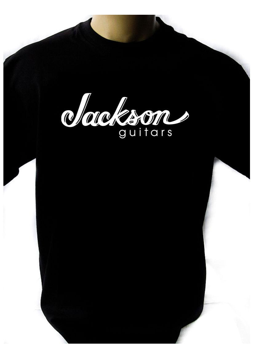 4617efc935678e JACKSON GUITARS LOGO Black T Shirt Men Shirt Rock Band Tee Music ...