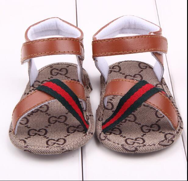 4010578784a4 2019 Summer New Prewalker Baby Boys Gucci Sandals Toddler Soft Soled ...