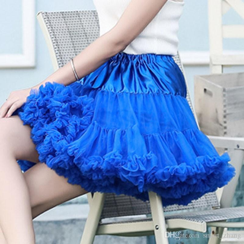 New Arrival Petticoats Short Wedding Bridal Crinoline Lady Girls Colorful Underskirt for Party White/Blue/Pink Ballet Dance Skirt Tutu