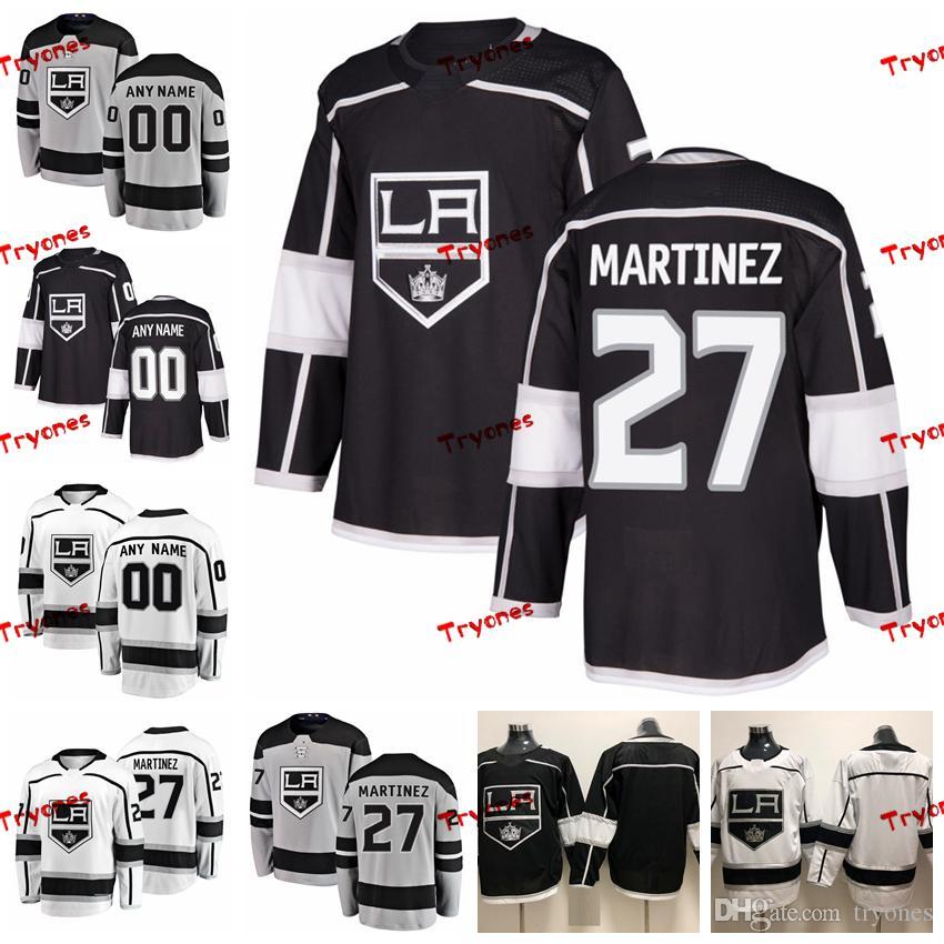huge selection of a03cc 72e04 2019 Customize Alec Martinez Los Angeles Kings Stitched Jerseys Custom  Alternate Grey Shirts #27 Alec Martinez Hockey Jerseys S-XXXL