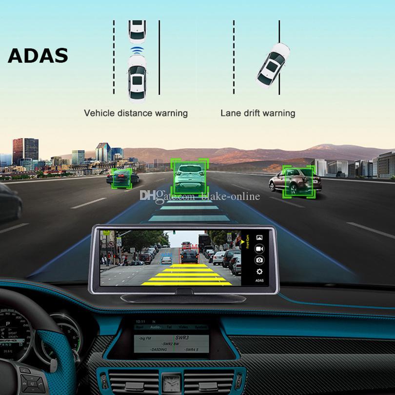 4G 8 بوصة سيارة DVR GPS الملاحة شاشة تعمل باللمس 16GB Android 5.1 WiFi Navigator 1080P داش كاميرا الرؤية الخلفية، مراقب وقوف السيارات