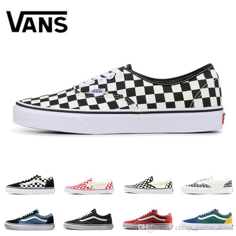 86c08f0a85 Original Vans Old Skool Canvas Sneakers Fear Of God White Red YACHT CLUB Classic  Black Blue Men Women Skates Casual Shoes Nude Shoes Orthopedic Shoes From  ...