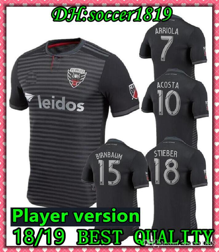 3c5f3eb99e9 2019 MLS 2018 DC United Home Soccer Jersey 2018 19 Washington Home Black Soccer  Shirt Customized   9 ROONEY Football Uniform Player Version From  Soccer1819