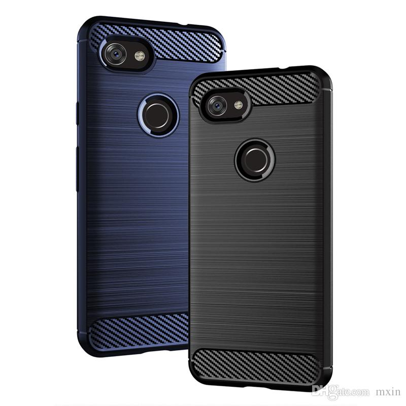 Carbon Fiber Slim Armor Brushed Rugged Soft TPU Shockproof Case For Google Pixel 2 3 3A XL OnePlus 5 5T 6 6T 7 Pro
