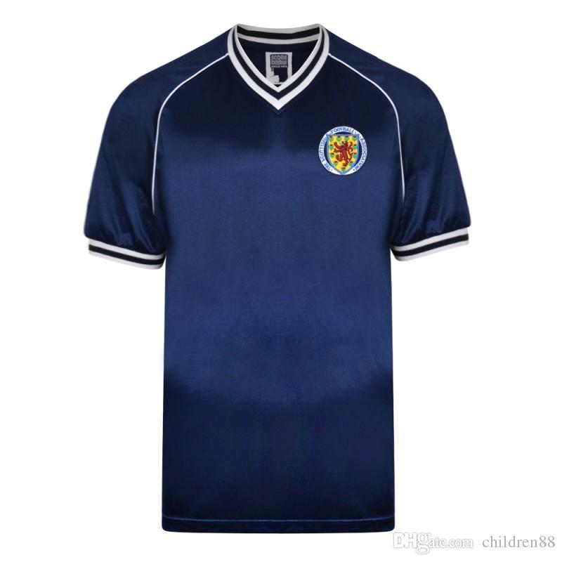 2f1d6c9e4 2019 1982 1983 Scotland Retro Soccer Jerseys John Wark Alan Brazil Kenny  Dalglish Vintage Football Shirts 1982 World Cup Home Soccer Uniforms From  ...