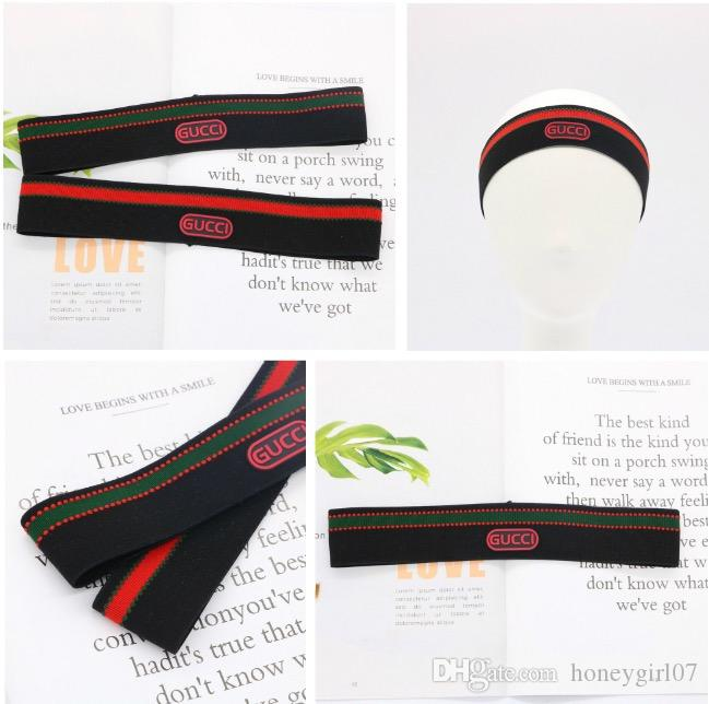 55efce6f5ee With Tags And Label Newest Style Sport Headband For Men And Women 3cm Red  Green Stripe Luxury Brand Headband Retro Elastic Hairband Headband For  Sweat ...