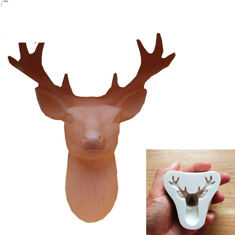 Deer Silicone Fondant Cake Mould Decorating Chocolate Baking Mold Tool Deer  Elk Chocolate Cake Decorating Tool KKA7130