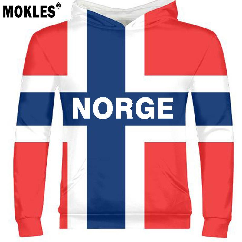 NORWAY male youth diy free custom made name number pullover nation flag  norge norwegian kingdom country print photo text clothes