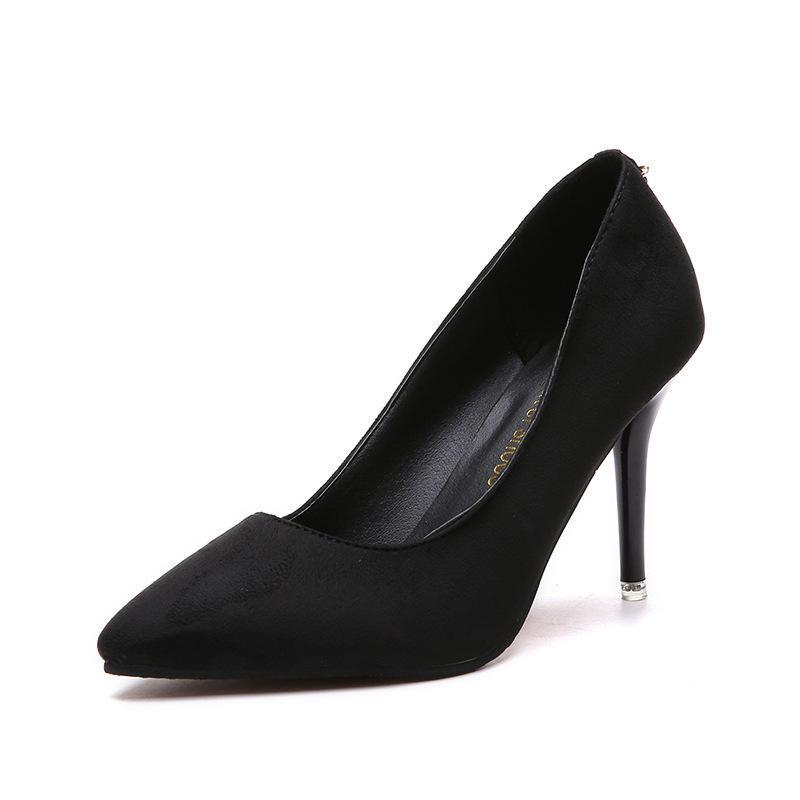 c6fb728ea Compre Designer De Sapatos De Vestido Das Mulheres De Salto Alto Da Marca De  Moda OL Senhora Escritório Dedo Do Pé Apontado Bombas De Salto Fino Clássico  ...