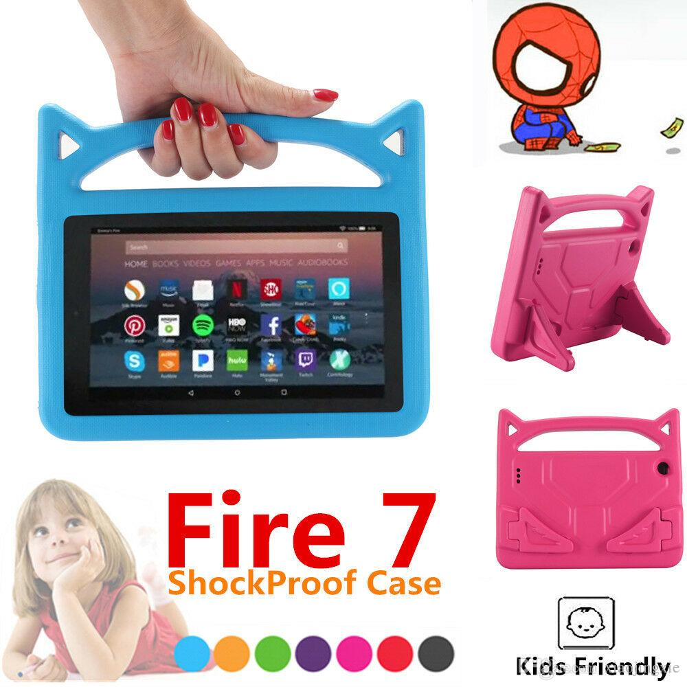 7 inch Kids EVA Foam Handle Case Cover Stand For Amazon Fire 7 Tablet 2017  /2015