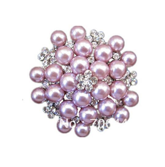 Vintage tono argento strass Crystal Diamante e Faux Cream Pearl Cluster Grande bouquet da sposa Pin Pin Spilla Wedding Invitation Pins Jewelry