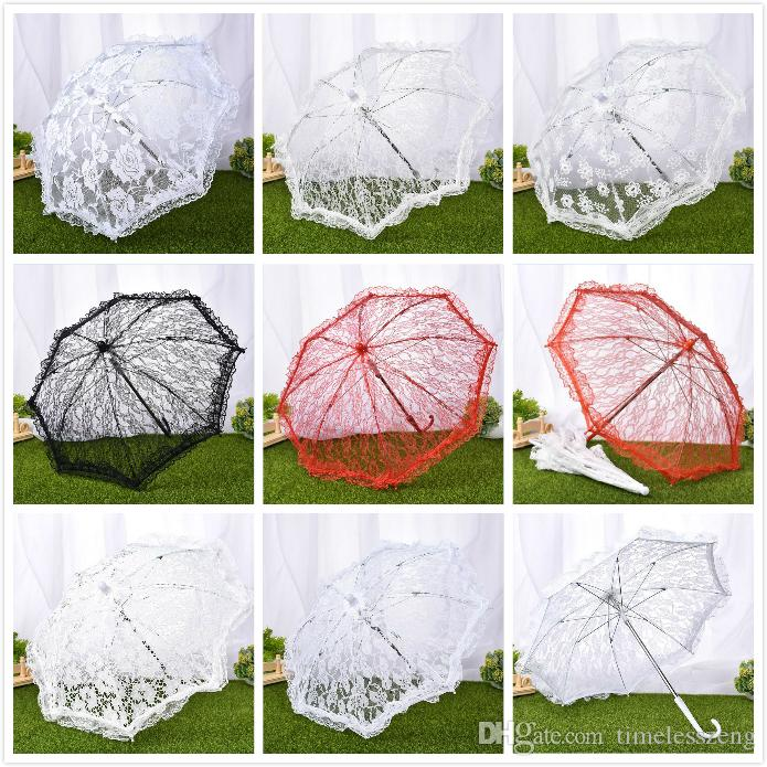 9dbe4d3d7a4a Cotton antique lace umbrella bridal parasol handmade lace embroidery sun  umbrella wedding umbrella for stage performance studio photo props
