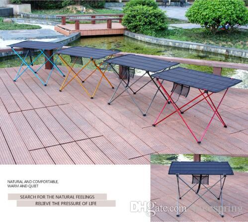 Portable Foldable Table Camping Outdoor Furniture Computer Bed Tables  Picnic Aluminium Alloy Ultra Light Folding Desk
