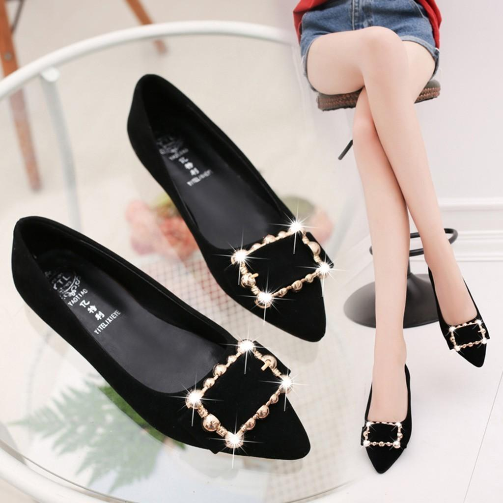 213ca944bfe38 Shoes 2019 Women'S Work Pumps New Fashion Spring Summer Sexy Pointed Toe  Low Heel Loafers Fashion Party Walking Home Outdoor Boat Shoes For Men Navy  Shoes ...