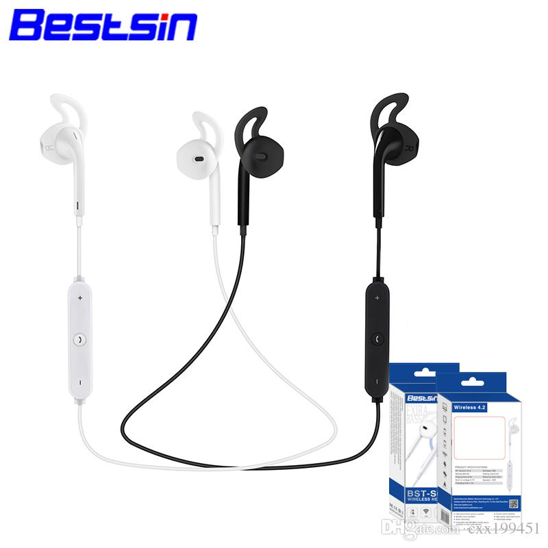 Fashion S6 Wireless Bluetooth Headphone Stereo Cellphone In-ear Headset  with Microphone Outdoor Sport Running for Iphone 7 7plue Samsung s8