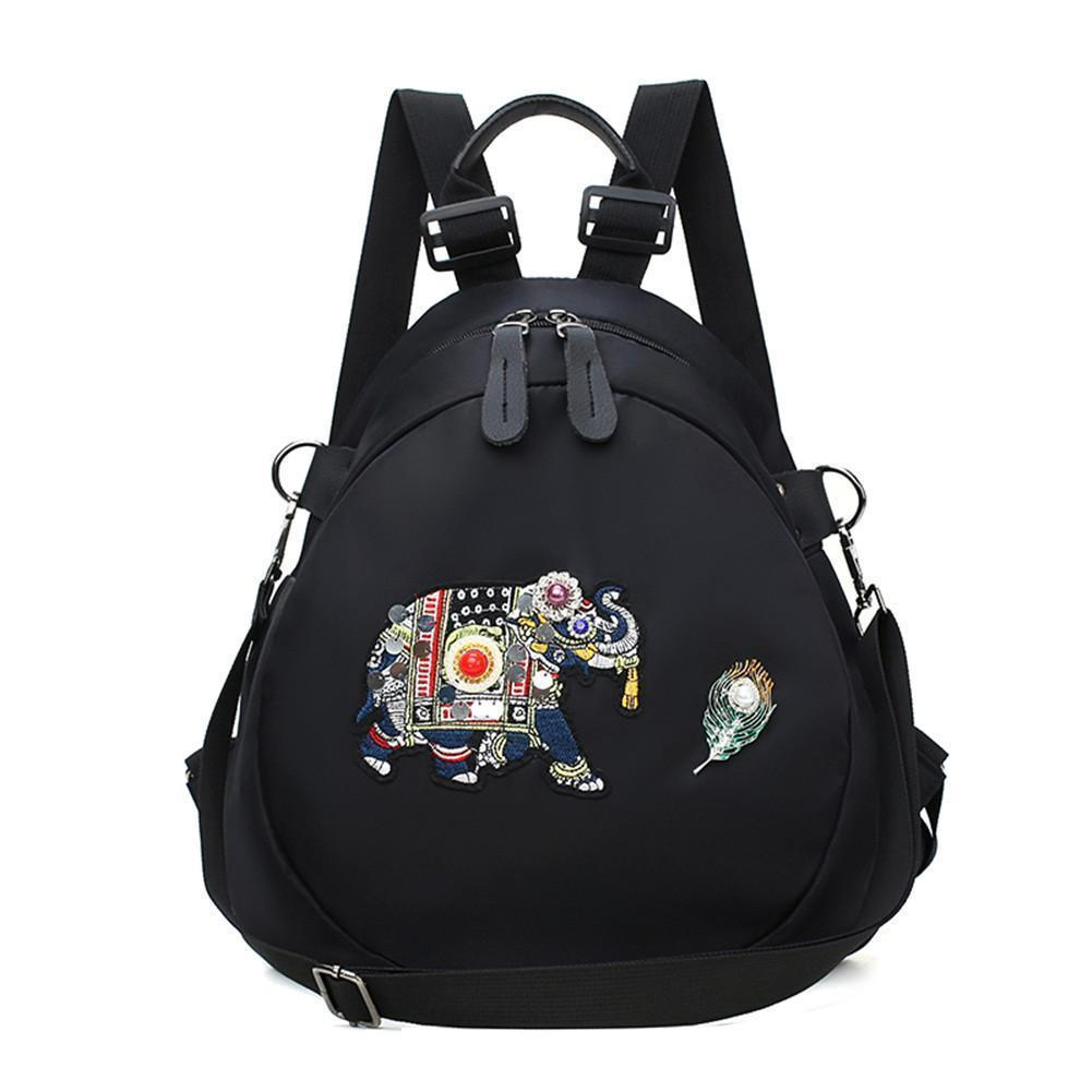 Individualized Embroidered Elephant Backpacks Student School Bag Ethnic  Style Fashion Simple Travel Backpack For Teens Girl Bags Gregory Backpacks  Army ... fb7f9119154c0